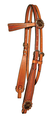 crossed_pistol_brow_band_headstall