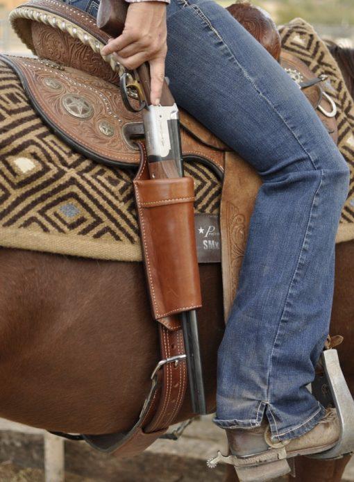 Long Gun Scabbard Rear Saddle Mount Kenda Lenseigne